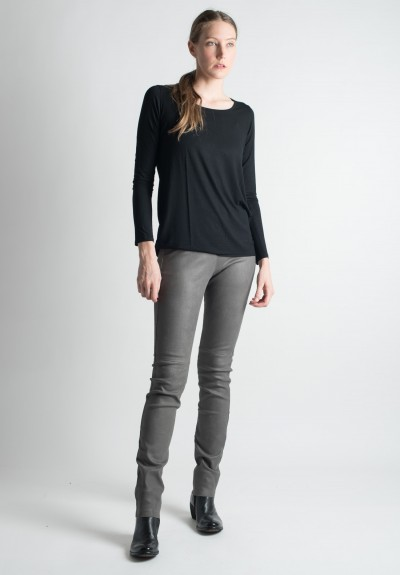 Ventcouvert Stretch Leather Leggings in Gris