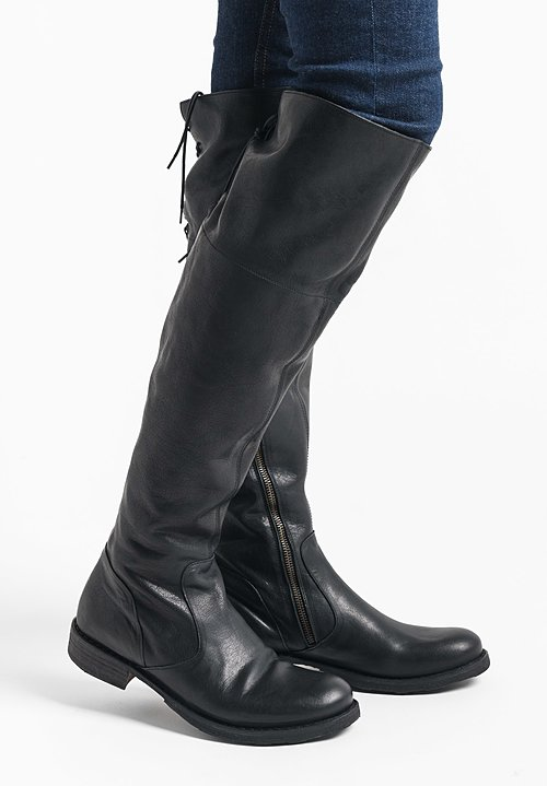 Fiorentini and Baker Tall Leather Boot in Black