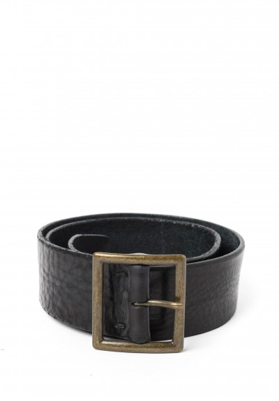 Riccardo Forconi Square Buckle Belt in Black