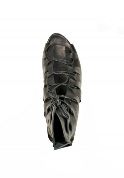 trippen stream bottie sandal in black santa fe dry goods trippen rundholz avant toi greg lauren. Black Bedroom Furniture Sets. Home Design Ideas