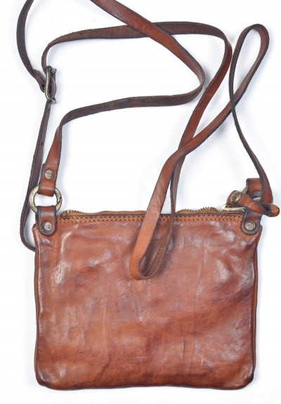 Campomaggi Tracolla Cross-Body Bag in Cognac