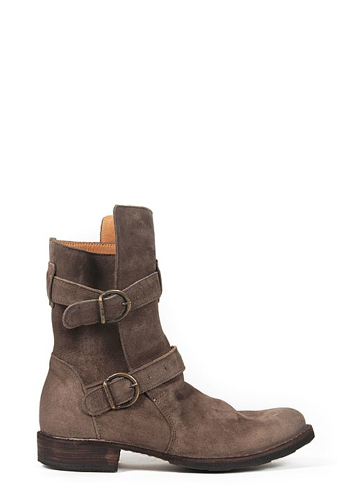 Fiorentini and Baker 2 Buckle Eternity Boot in Ice Suede