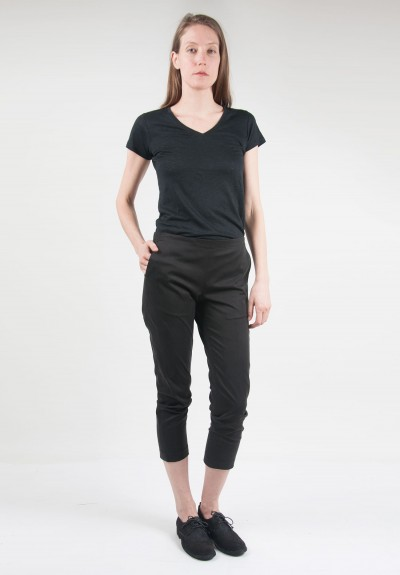 6397 Cropped Pullon Pant in Black