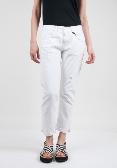 3x1 Boyfriend Stone Ripper Jeans in White
