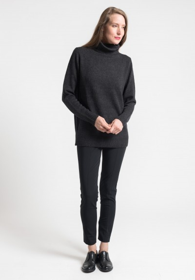 Pauw Cropped Cotton Blend Trousers in Black