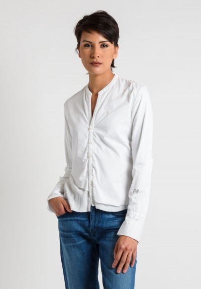 Greg Lauren Cotton Studio Shirt in White
