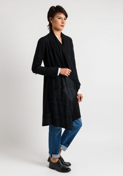 Greg Lauren Vintage Cashmere Nomad Jacket in Black
