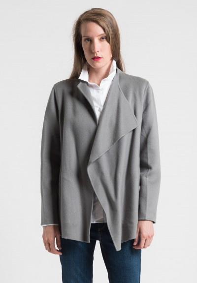 Pauw Cashmere Short Belted Jacket in Grey