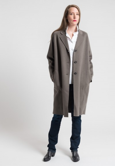 Pauw Long Cashmere Coat in Light Brown
