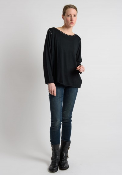 Paychi Guh Cashmere Everyday Top in Black
