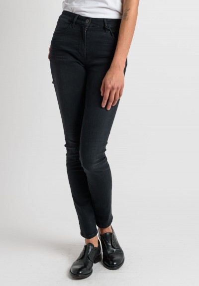 3x1 High Rise Skinny in Faded Black