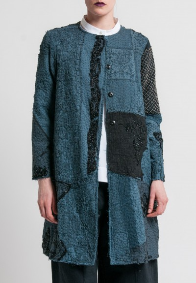 By Walid Beaded Gigi Coat in Almost Black
