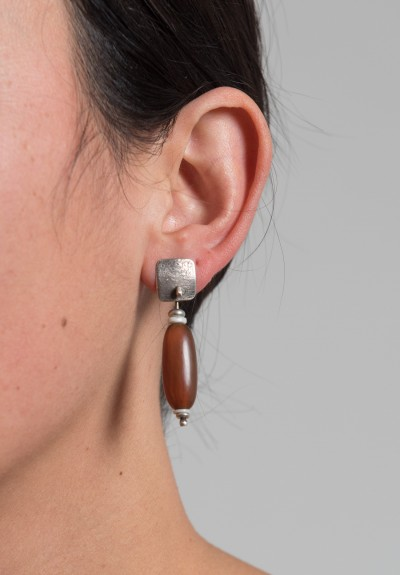 Holly Masterson Horn Bead Earrings