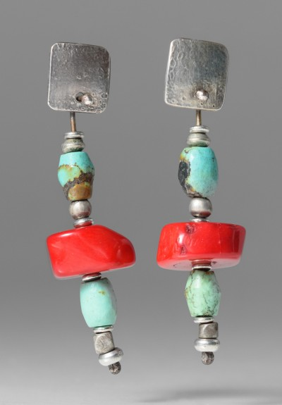 Holly Masterson Coral and Turquoise Earrings