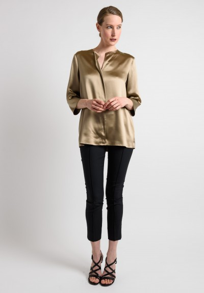 Peter Cohen Silk Blouse in Sage