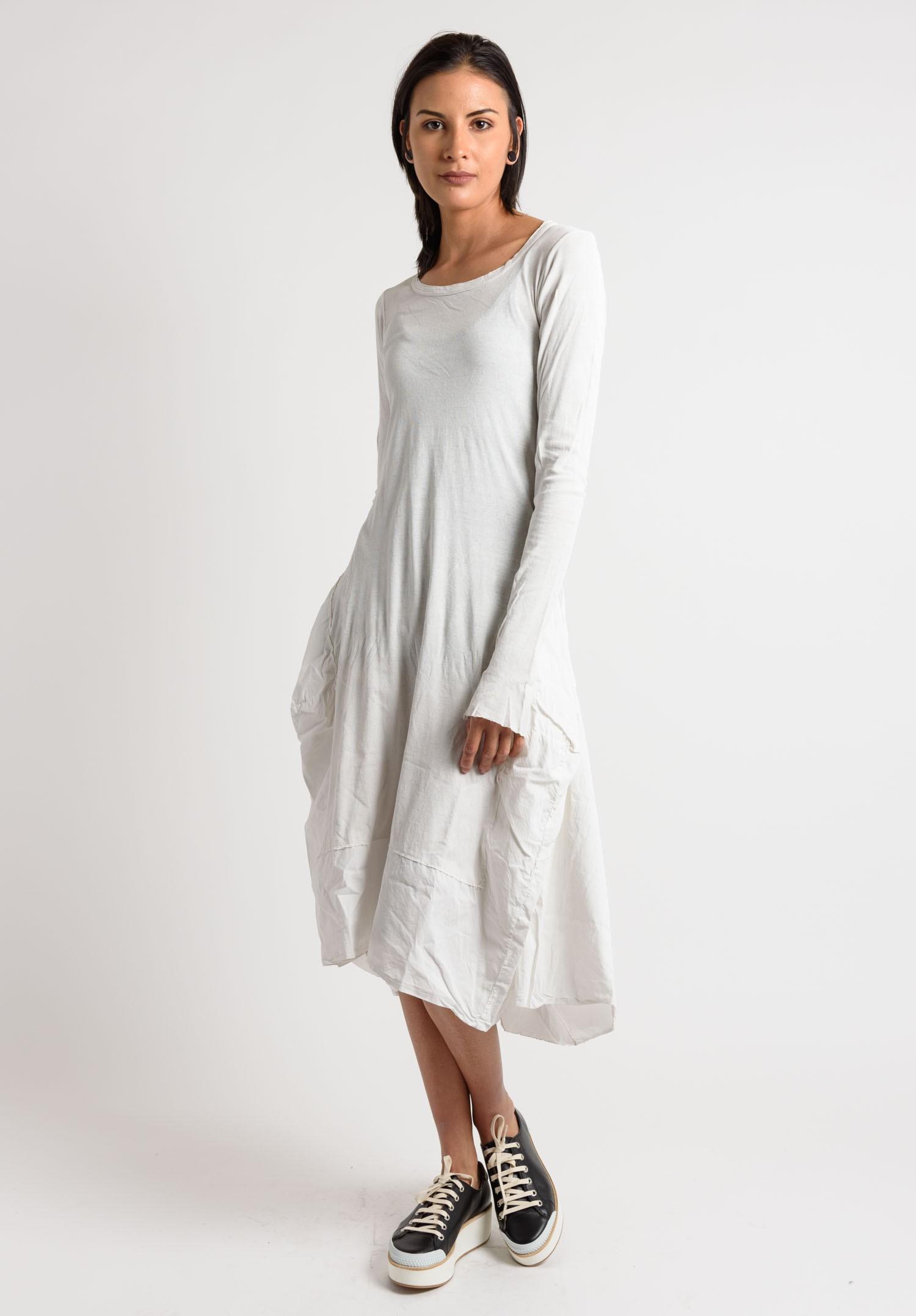 White long sleeve tulip dress