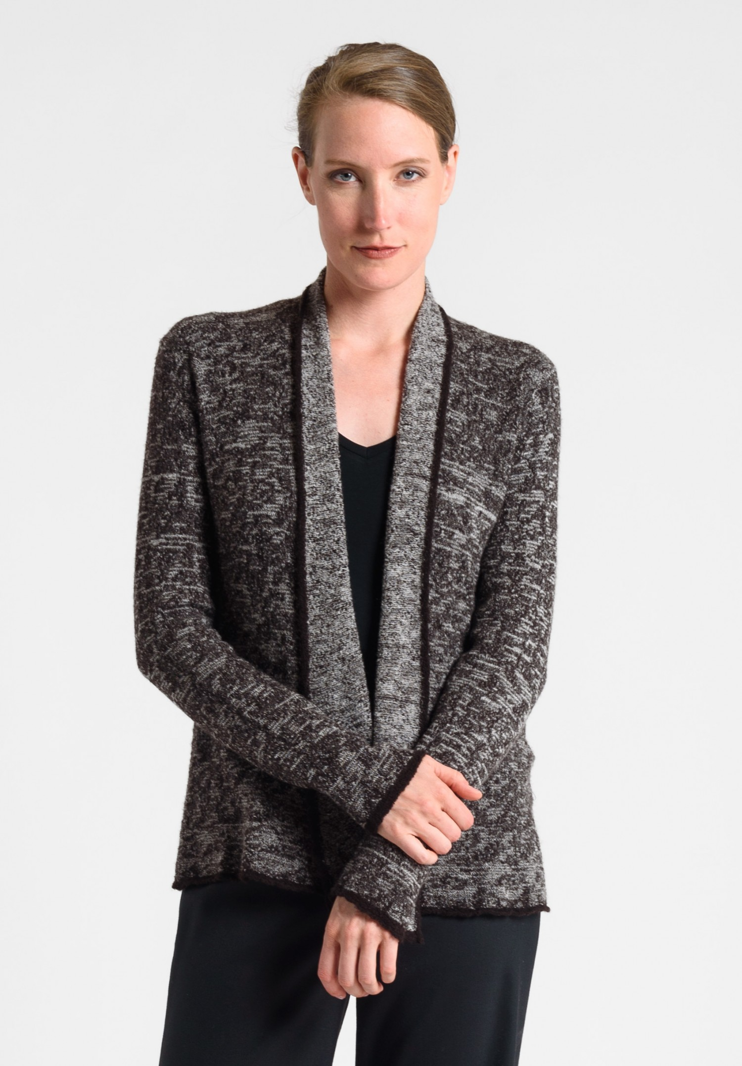 Lainey Lightweight Cashmere Sweater in Chocolate | Santa Fe Dry Goods