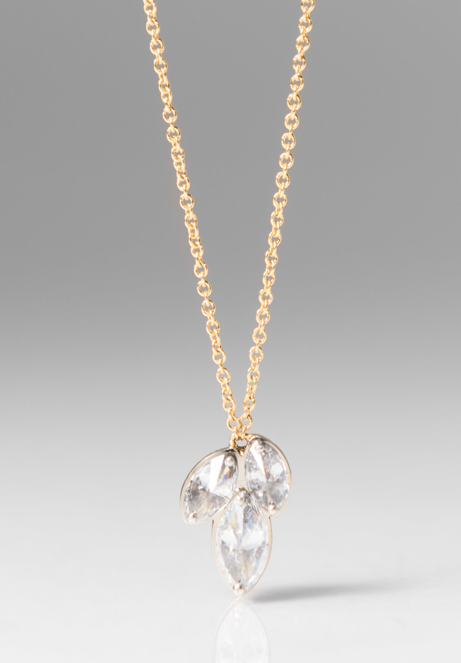brilliant and white diamond marquise gold drop round pendant fancy