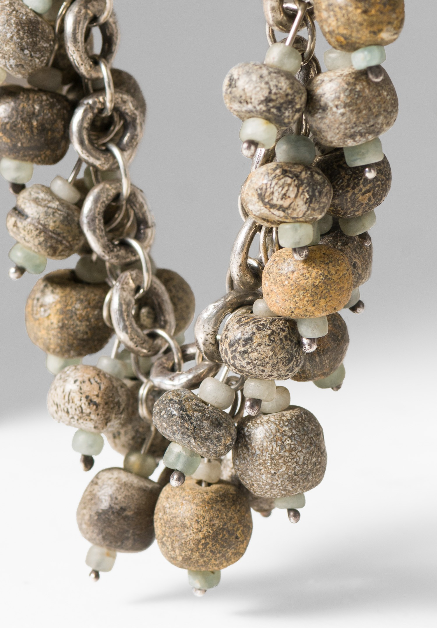 Holly Masterson Ancient Wooly Mammoth Bone Bead Necklace