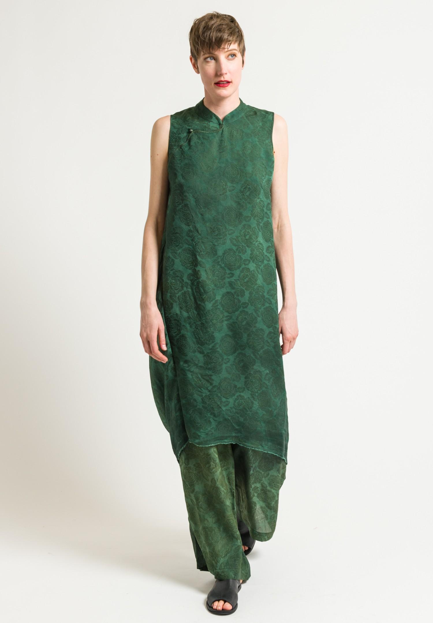 Uma Wang Stupore Agna Dress In Green Santa Fe Dry Goods
