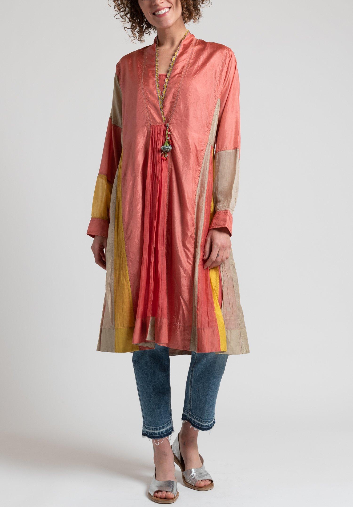 P 233 Ro Silk Amp Cotton Dress In Pink Santa Fe Dry Goods