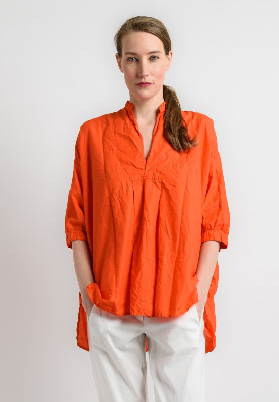 Daniela Gregis Cotton Oversized Top in Orange