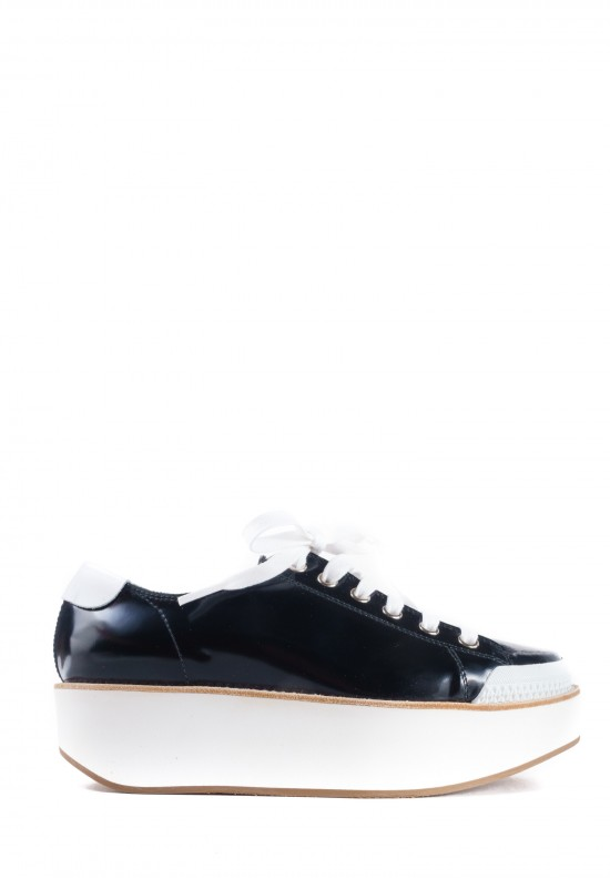 Flamingos Tatum Patent Leather Sneakers in Black