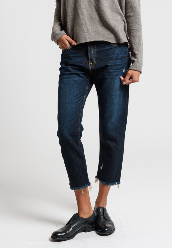 Artisan De Luxe Vic Standard Jeans with Distressed Details in Dark Washed