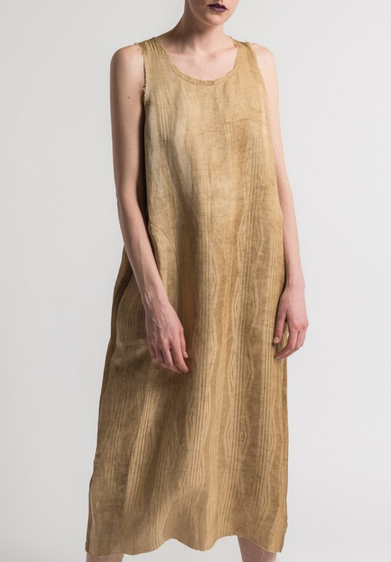 Uma Wang Sleeveless Ashanti Dress in Tan