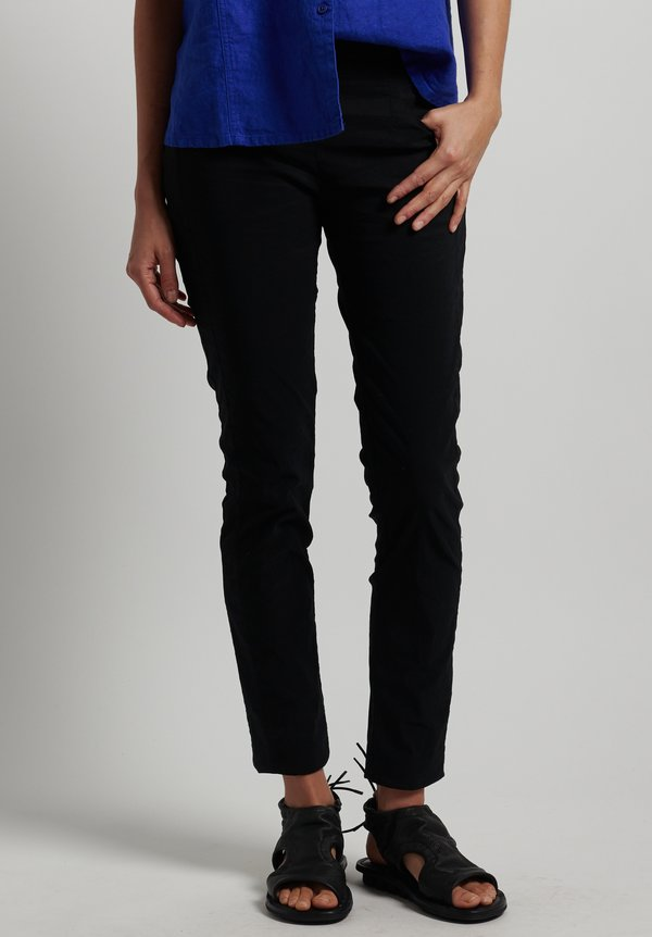 Rundholz Black Label Skinny Stretch Pants in Black