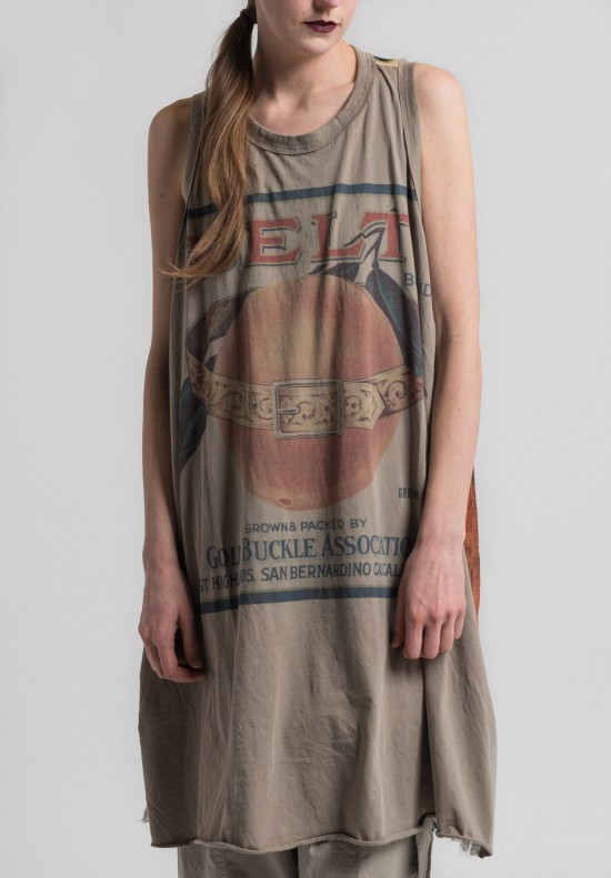 Rundholz Cotton Print Sleeveless Tunic in Desert