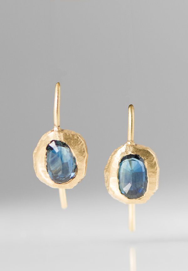 Page Sargisson 18K Oval Sapphire Earrings Blue