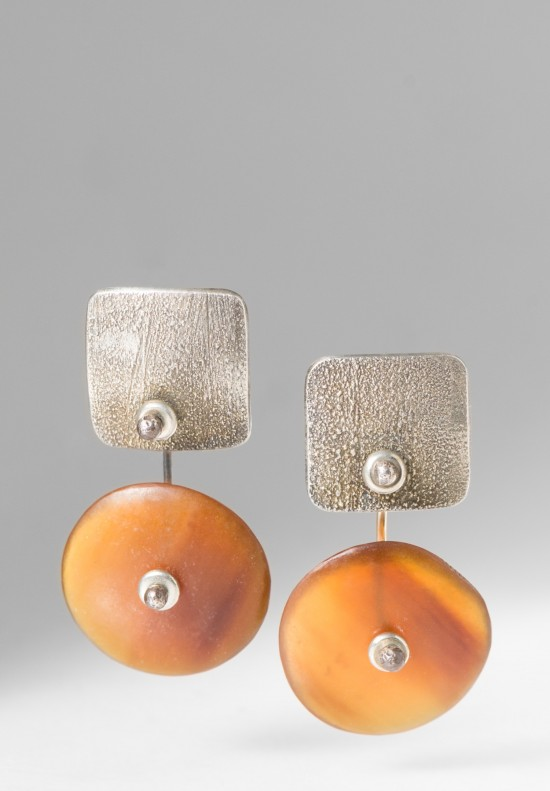 Holly Masterson Horn Disk Earrings