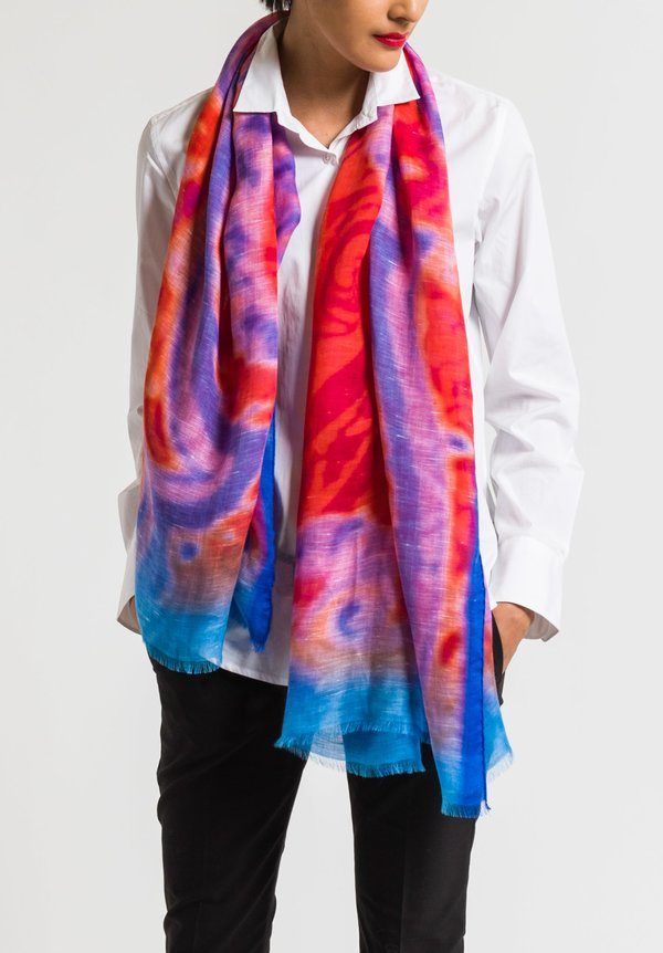 Etro Red & Blue Scarf
