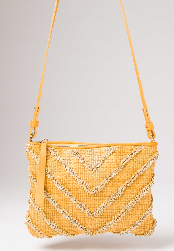 Massimo Palomba Momo Arrow Shoulder Bag in Lemon