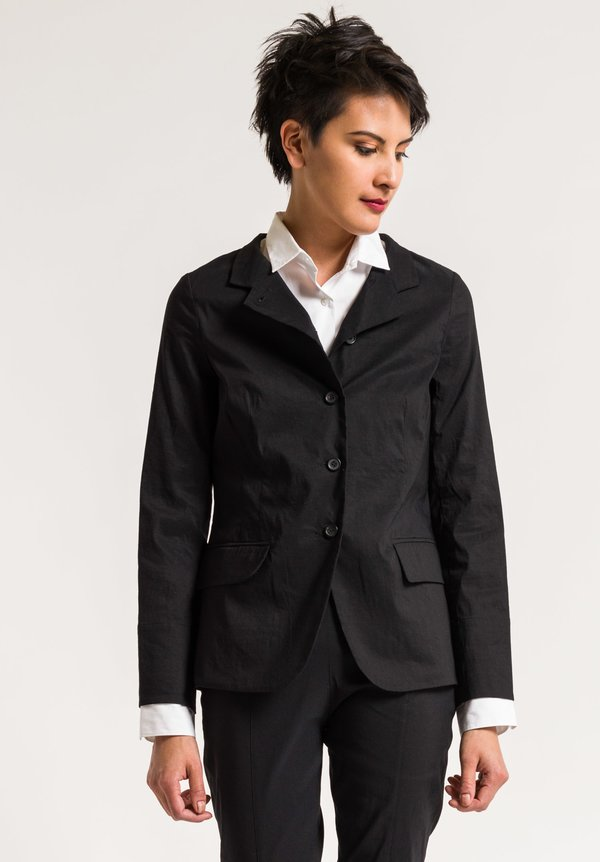 Peter O. Mahler Diagonal Placket Jacket in Black