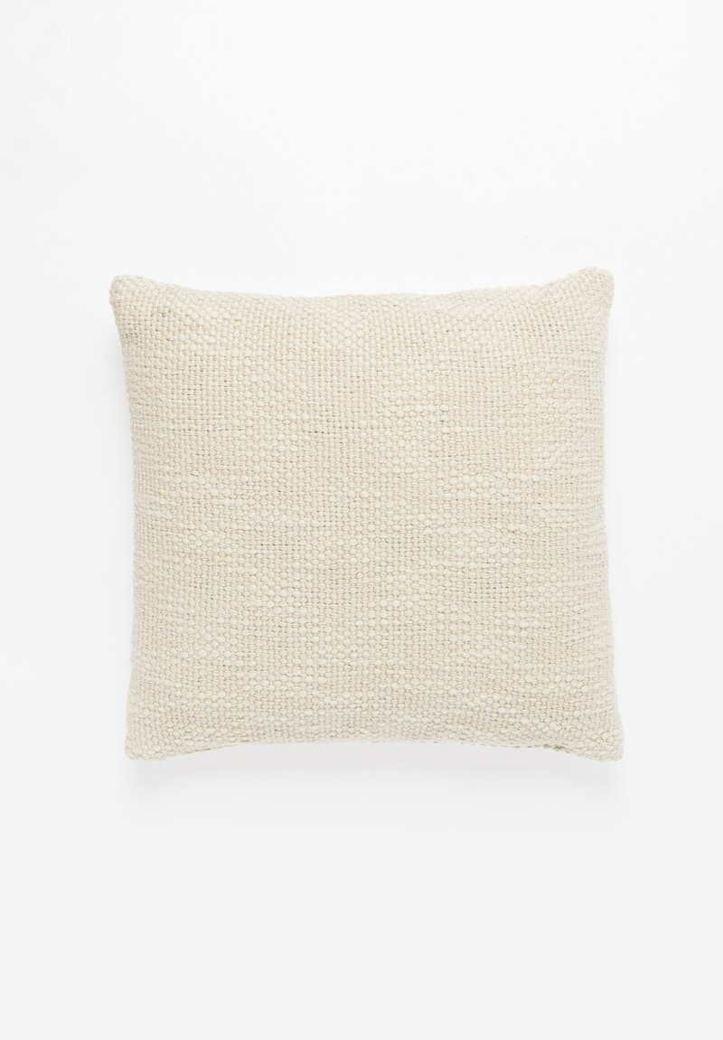 Handwoven Raw Cotton Pillow in Cemento