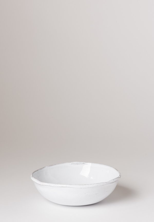 Astier de Villatte Neptune Very Small Soup Bowl White