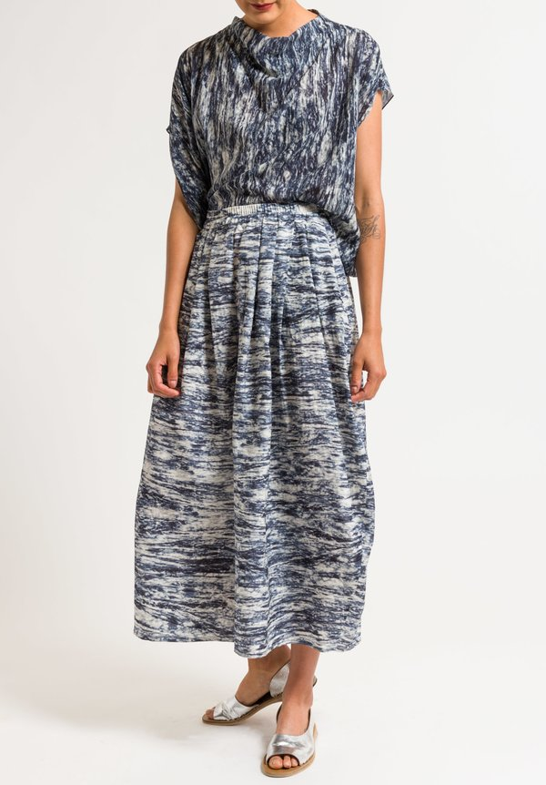 Anntian Wide Leg Pants in Dark Blue