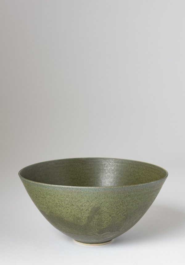 Christiane Perrochon Stoneware Nesting Bowl in Moss Crystal