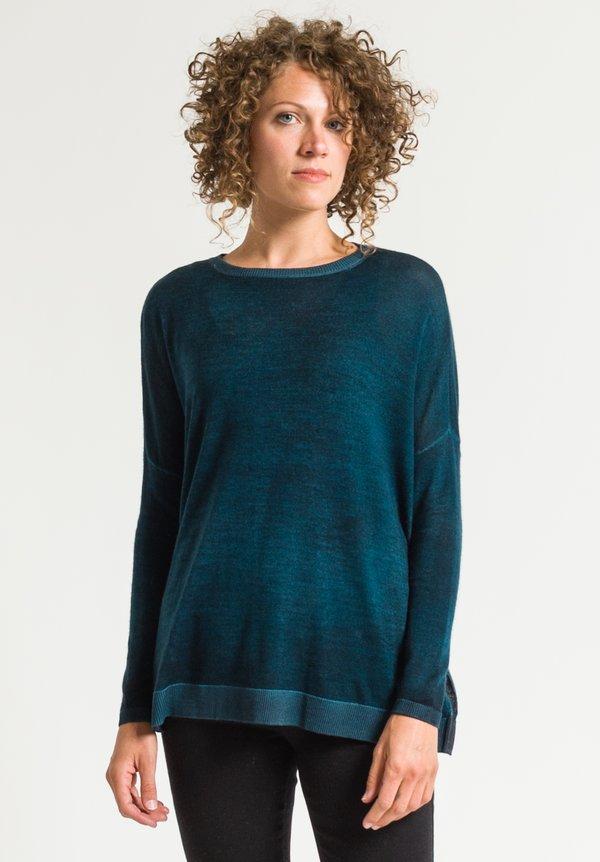 Avant Toi Lightweight Sweater in Turchese