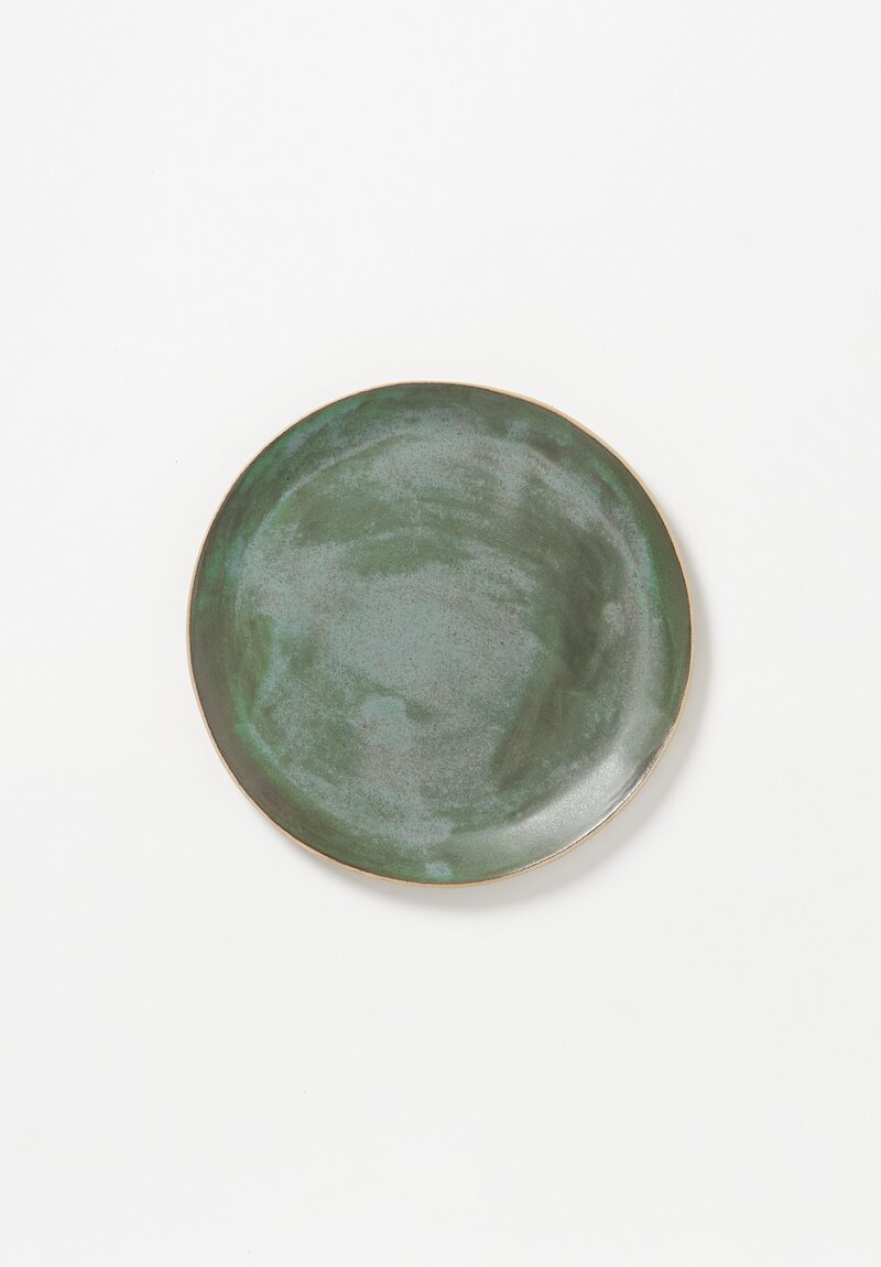 Laurie Goldstein Ceramic Side Plate in Green