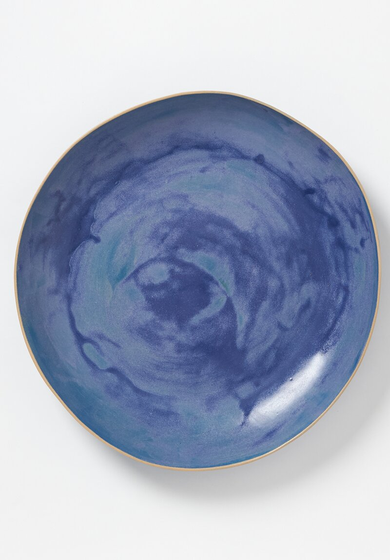 Laurie Goldstein Extra Large Ceramic Open Bowl in Blue
