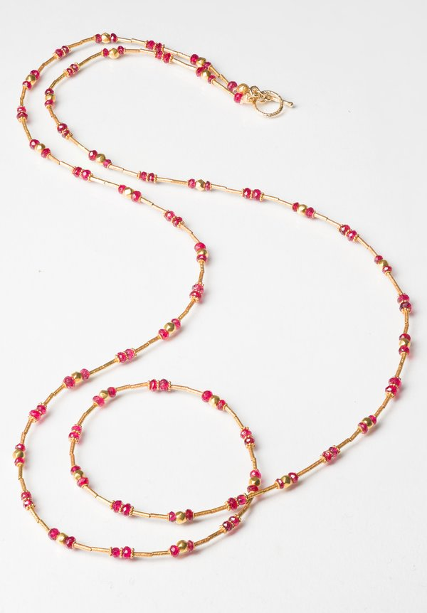 Greig Porter 18K, Spinel Long Single Strand Necklace