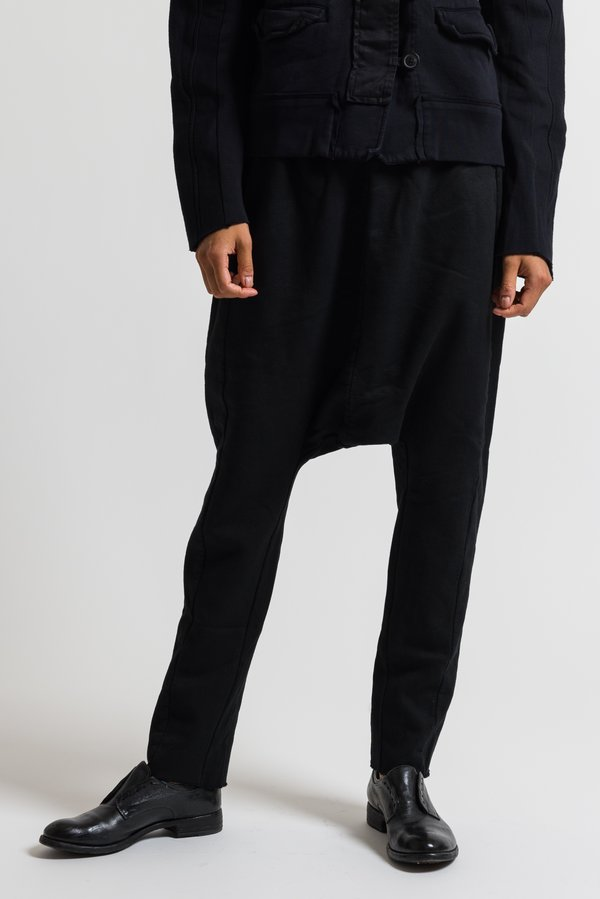 Rundholz Dip Drop Crotch Pants in Black