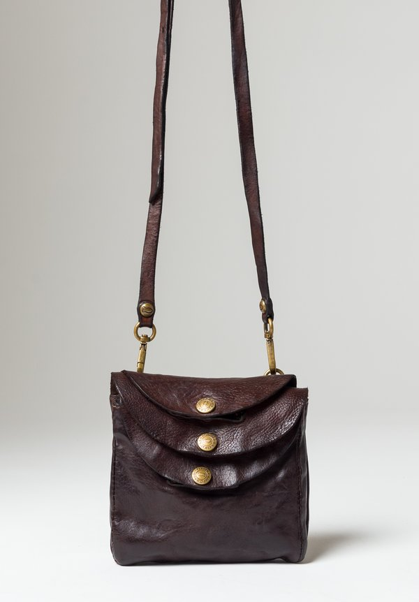 Campomaggi Small Three Pocket Shoulder Bag in Brown