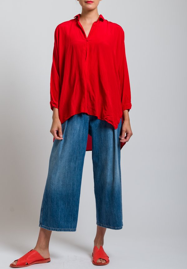 Daniela Gregis Melograno Top in Red