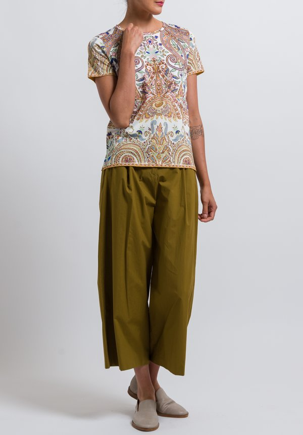Etro Pleated Culottes in Mustard