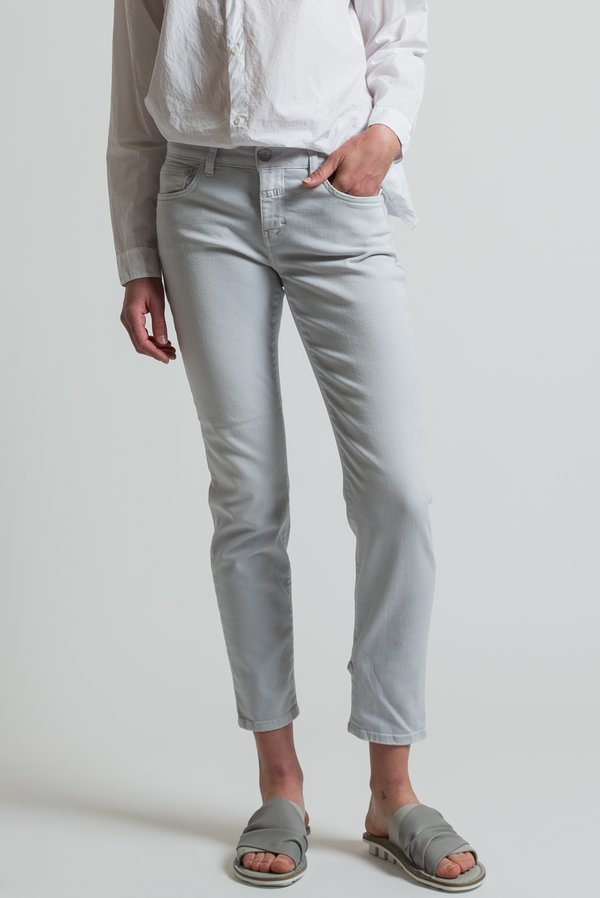Closed Cropped Narrow Baker Jeans in Misty Grey