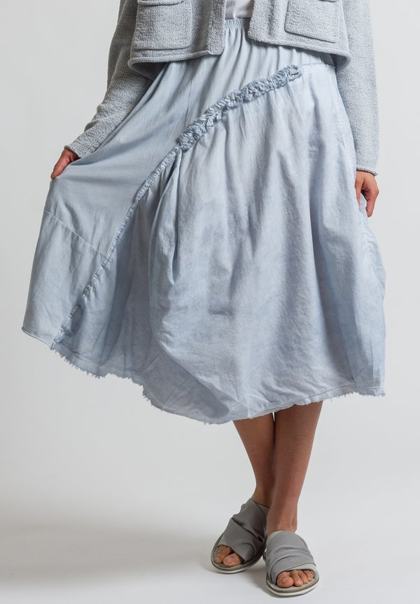 Rundholz Black Label Ruffle Detail Skirt in Grey